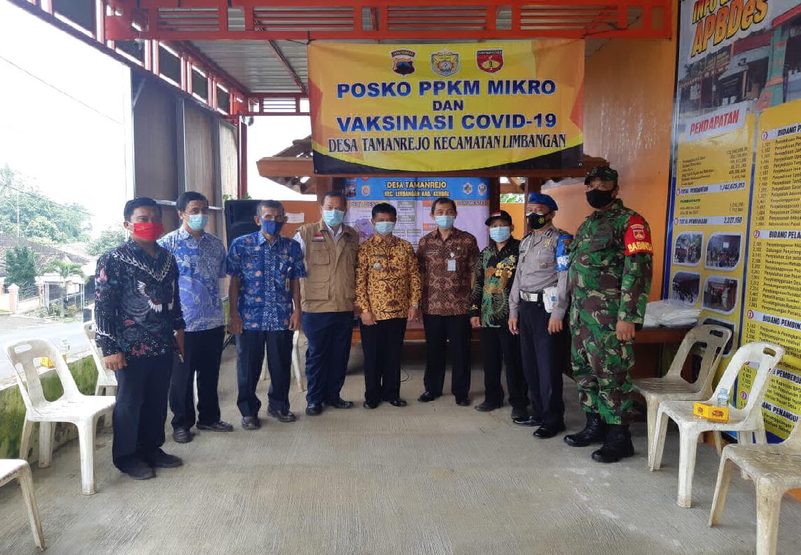 monitoring Tim PPKM Mikro Kabupaten ke Desa Tamanrejo